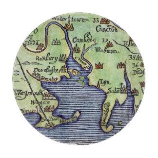NEW ENGLAND MAP 1677 CUTTING BOARD