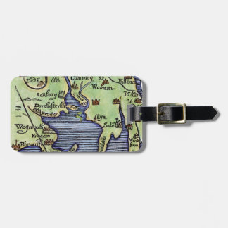 NEW ENGLAND MAP 1677 LUGGAGE TAG