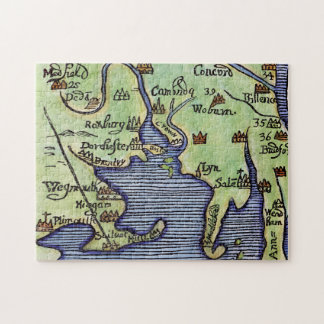 NEW ENGLAND MAP 1677 PUZZLE