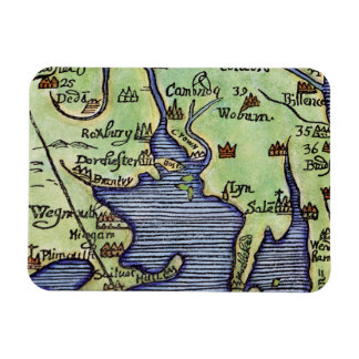 NEW ENGLAND MAP 1677 RECTANGULAR PHOTO MAGNET