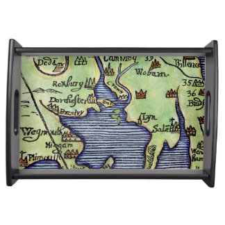 NEW ENGLAND MAP 1677 SERVING TRAY
