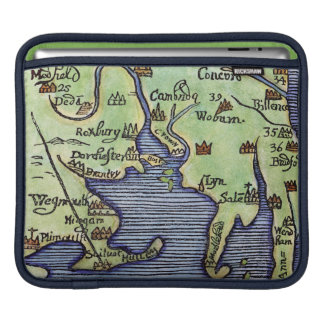 NEW ENGLAND MAP 1677 SLEEVE FOR iPads