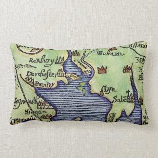 NEW ENGLAND MAP 1677 THROW PILLOW