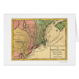 New England Map 1759 Cards