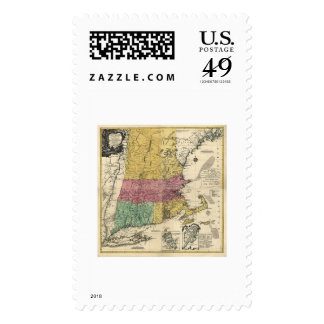New England Map - 1777 Stamp