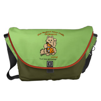 New England Meow Outfit Messenger Bag