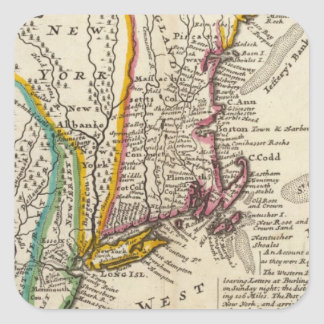 New England, New York, New Jersey and Pennsylvania Square Sticker