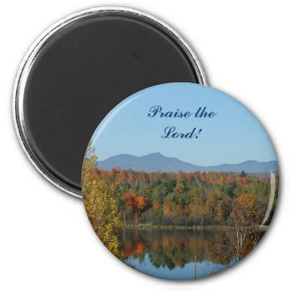 New England, Praise the Lord, magnet! 2 Inch Round Magnet