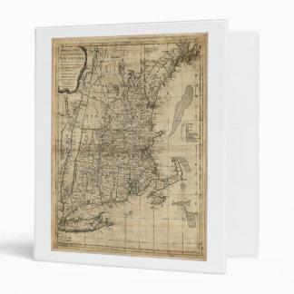 New England Revolutionary War Era Map (1776) 3 Ring Binder