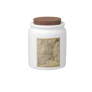 New England Revolutionary War Era Map (1776) Candy Dishes