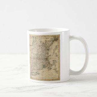 New England Revolutionary War Era Map (1776) Coffee Mug