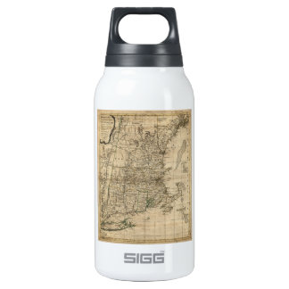New England Revolutionary War Era Map (1776) Insulated Water Bottle