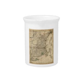 New England Revolutionary War Era Map (1776) Pitchers