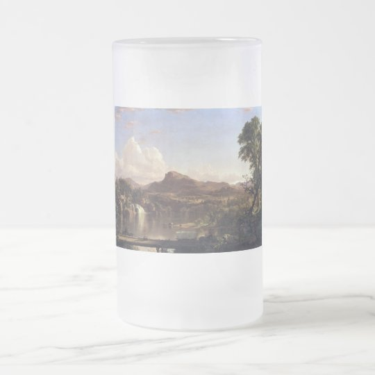 New England scene by Frederick Edwin Church Frosted Glass Beer Mug