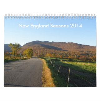 New England Seasons 2014 Wall Calendar