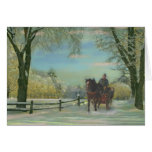 New England Sleigh Ride, Gallery Card (Christmas)