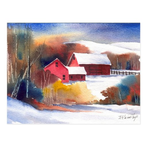 New England Valley Farm Post Cards