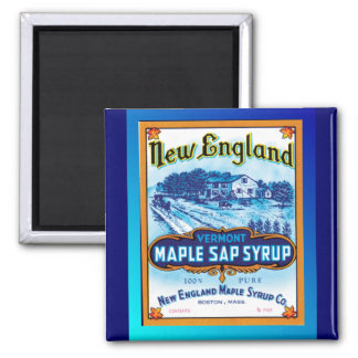 New England Vermont Maple Syrup 2 Inch Square Magnet