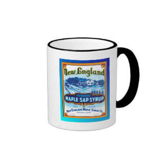 New England Vermont Maple Syrup Ringer Coffee Mug
