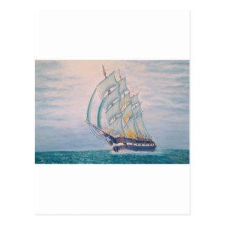 new england whaler postcard
