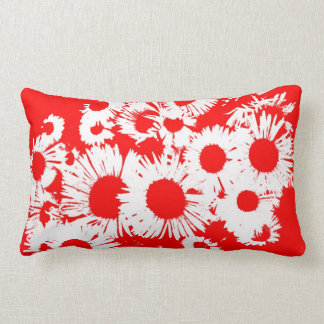 New England Wild Aster Lumbar Pillow