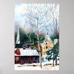 New England Winter Church Poster