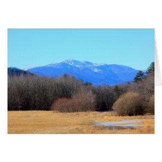 New England Winter Landscape Mount Washington I Card