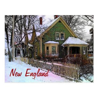 New England Winter Postcard