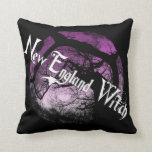 New England Witch-Pillow Throw Pillow