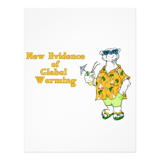 New Evidence of Global Warming Personalized Letterhead