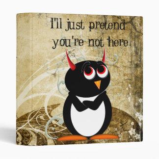 NEW Evil Penguin Binders! Vinyl Binder