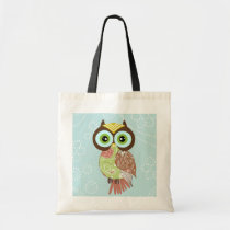 New Fancy Funky Owl Tote Bag