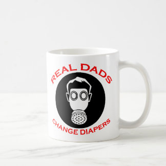 New Father: Real Dads Change Diapers Coffee Mugs