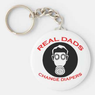 New Father: Real Dads Change Diapers Keychains