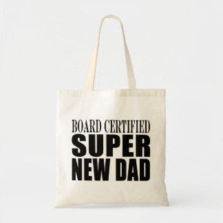 New Fathers Baby Showers Super New Dad Canvas Bags