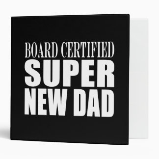 New Fathers Baby Showers Super New Dad 3 Ring Binders