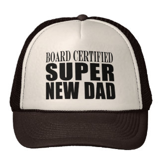 New Fathers Baby Showers Super New Dad Trucker Hats