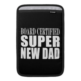 New Fathers Baby Showers Super New Dad MacBook Sleeve