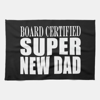 New Fathers Baby Showers Super New Dad Hand Towels