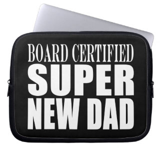 New Fathers Baby Showers Super New Dad Laptop Computer Sleeves