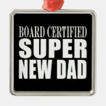 New Fathers & Baby Showers : Super New Dad Christmas Ornaments