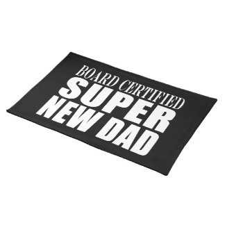 New Fathers Baby Showers Super New Dad Placemats