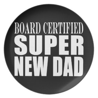 New Fathers Baby Showers Super New Dad Dinner Plate
