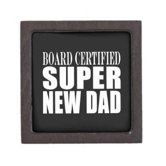 New Fathers Baby Showers Super New Dad Premium Trinket Box