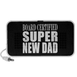 New Fathers Baby Showers Super New Dad PC Speakers
