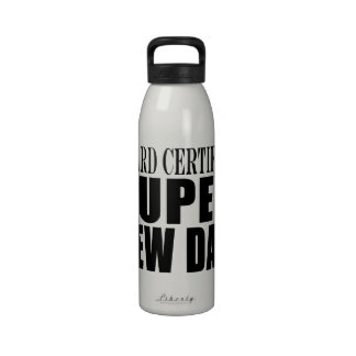 New Fathers Baby Showers Super New Dad Reusable Water Bottles