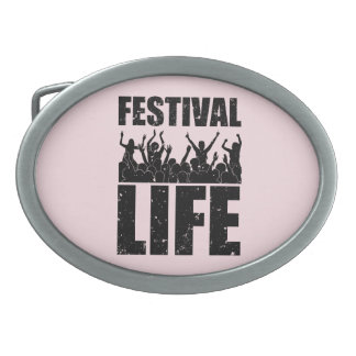 New FESTIVAL LIFE (blk) Belt Buckle
