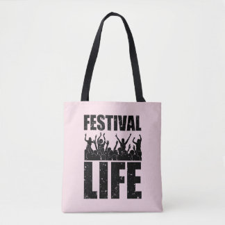 New FESTIVAL LIFE (blk) Tote Bag