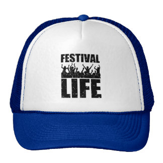 New FESTIVAL LIFE (blk) Trucker Hat