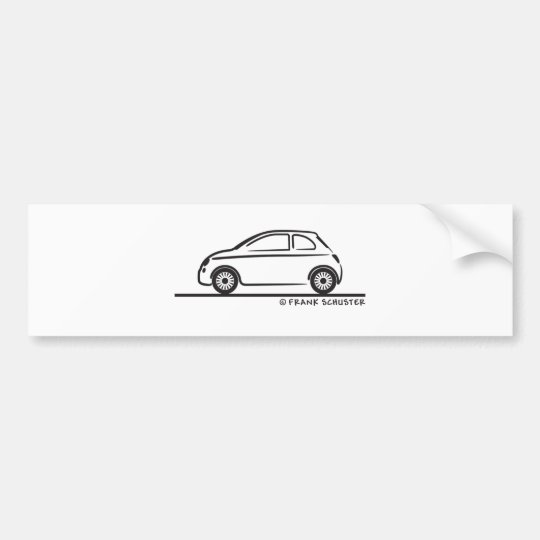 New Fiat 500 Cinquecento Bumper Sticker